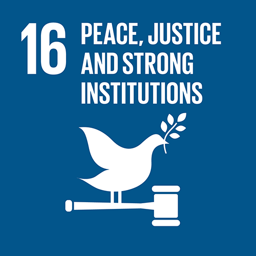 16. Promote just, peaceful and inclusive societies